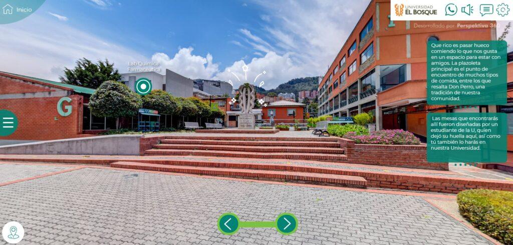 Tour virtual Universidad del Bosque